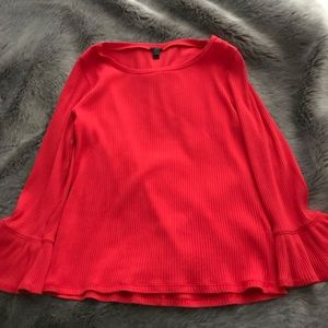 JCrew Red Bell sleeved top!!!